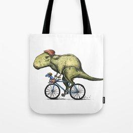 Dino Cycler Tote Bag