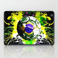 brazil iPad Cases featuring football Brazil by seb mcnulty