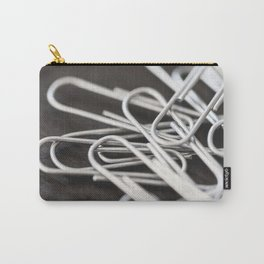 Pile of Silver Paper Clips Close Up Carry-All Pouch