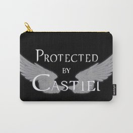 Protected by Castiel White Wings Carry-All Pouch