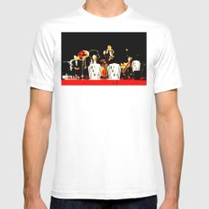 Cotton Club Crooners White Mens Fitted Tee MEDIUM