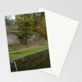 Castle moat around the Czech city of Krumlov Stationery Cards