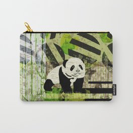 Panda Cub  Abstract vintage pop art composition Carry-All Pouch