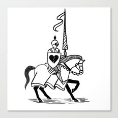 Knight of broken hearts Canvas Print