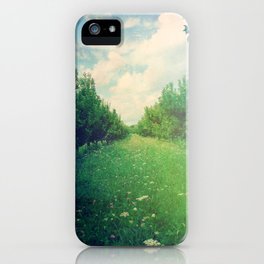 Apple Orchard in Spring iPhone Case