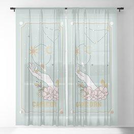Capricorn Zodiac Series Sheer Curtain