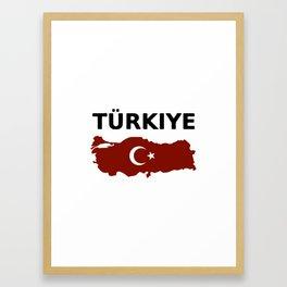 Turkiye Framed Art Print