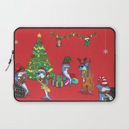 Blue Christmas Laptop Sleeve