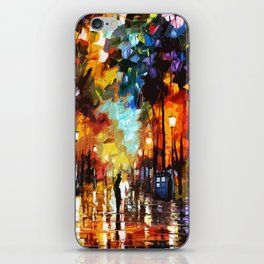 Tardis Art And The Couple Starry Night iPhone Skin