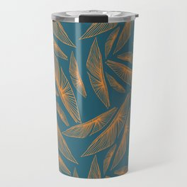 Feathered Leaf Pattern Travel Mug