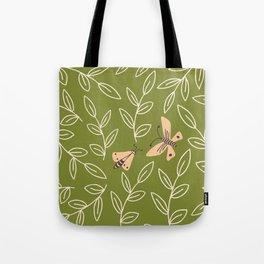 Leaves & Moths Tote Bag