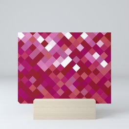 Lesbian Pride Pixelated Angled Squares Mini Art Print