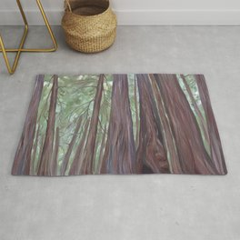 Sitting Among the Redwoods Illustration Rug