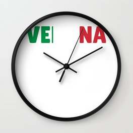 Verona Italy flag holiday gift Wall Clock