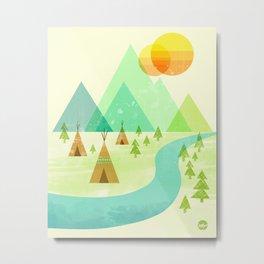 Native Lands Metal Print