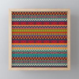African pattern No4 Framed Mini Art Print