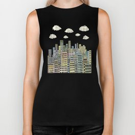 The city of paper clouds Biker Tank