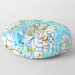 Hot wired sky blue Floor Pillow