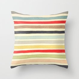 Stripes Watercolor Paint Robayre Throw Pillow