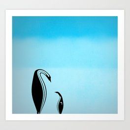 Penguin Lessons Art Print