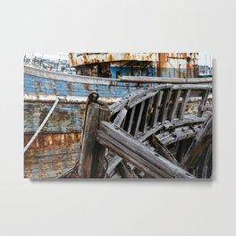 Ship Wreck Metal Print