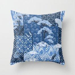 Shibori Quilt Throw Pillow