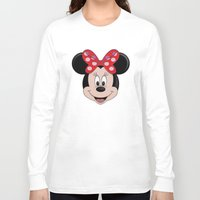 minnie mouse Long Sleeve T-shirts featuring Minnie Mouse by Yuliya L