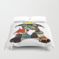 """prince Duvet Covers featuring Prince """"Dog"""" by zAcheR-fineT"""