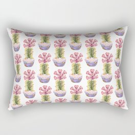 Papercraft Cactus in Pink Rectangular Pillow
