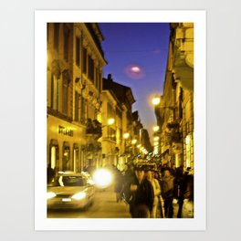 Piazza de Spagna Art Print