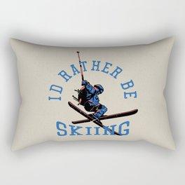 Ski Club crossed skis drawing for ski lovers Rectangular Pillow