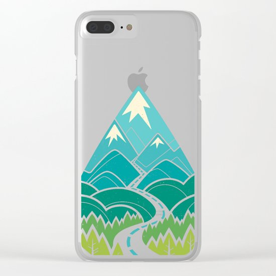 The Road Goes Ever On: Summer Clear iPhone Case