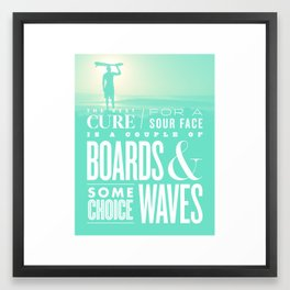 The Best Cure Framed Art Print