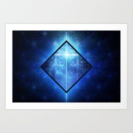 A Star Will Guide You Through the Dark of Winter Art Print