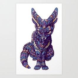 Fennec Fox (Color Version) Art Print
