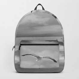 Watercolor Lighthouse (Black and White) Backpack