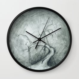 Tree Crippled by Chains Wall Clock