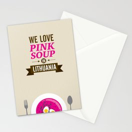 We love pink soup in Lithuania Stationery Cards