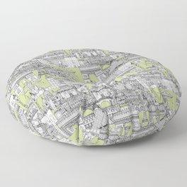 Paris toile eau de nil Floor Pillow