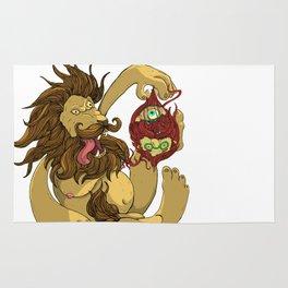 Lion Playing Rug