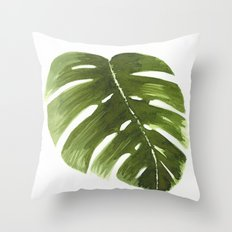 Nature leaves I monstera Throw Pillow