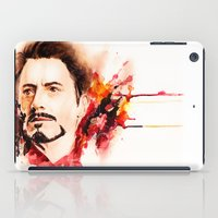 tony stark iPad Cases featuring Mr. Stark by Sterekism