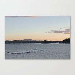 Lake and mountain Canvas Print