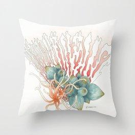 Fan Reef Throw Pillow