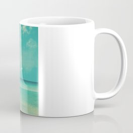 Waves of the sea (retro beach and blue sky) Coffee Mug