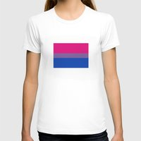 bisexual T-shirts featuring bisexual flag by tony tudor