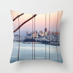 SAN FRANCISCO & GOLDEN GATE BRIDGE AT SUNSET  Throw Pillow