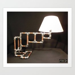Articulated Desk Lamps - Copper and Chrome Collection - FredPereiraStudios_Page_10 Art Print