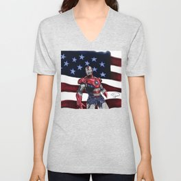 Iron Patriot Unisex V-Neck