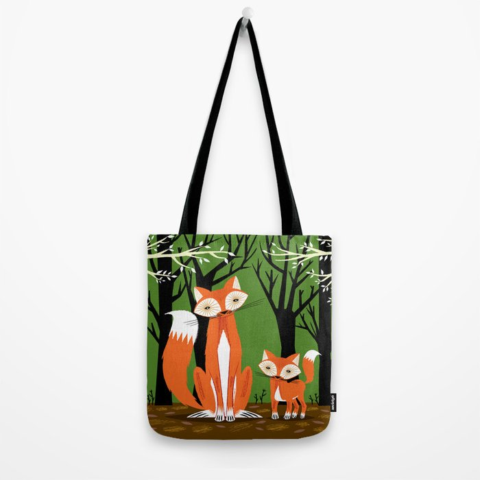 Two Fine Foxes Tote Bag